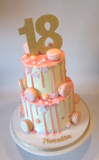 Th Pink Butter Cream Birthday Cake
