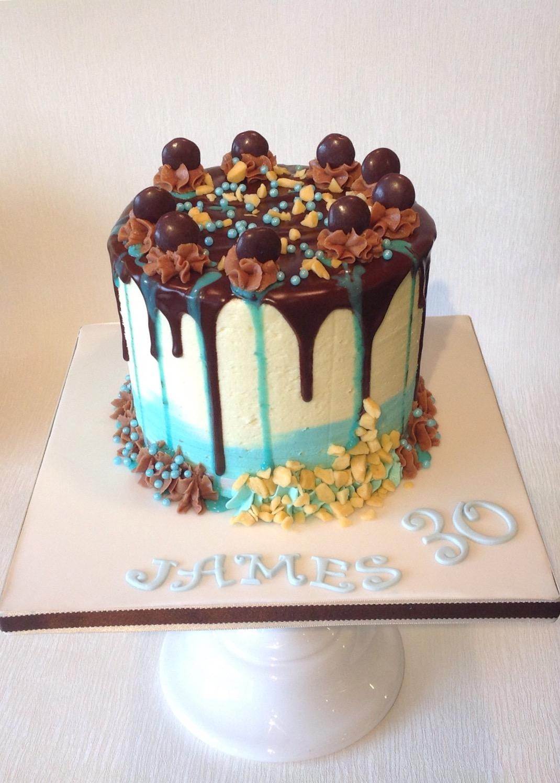 Drip Birthday Cake For Boys