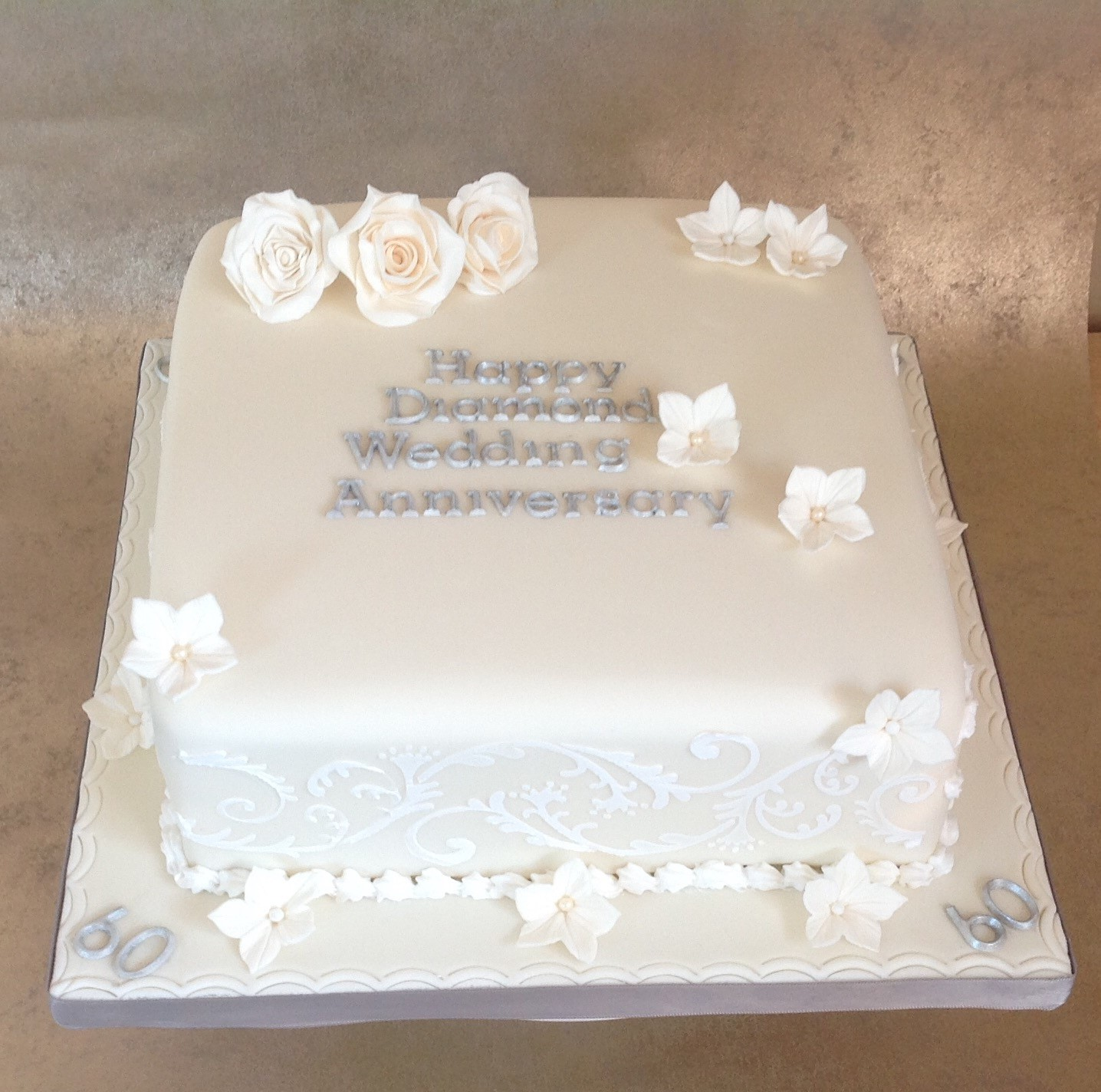 Silver Wedding Anniversary Cake Decorations