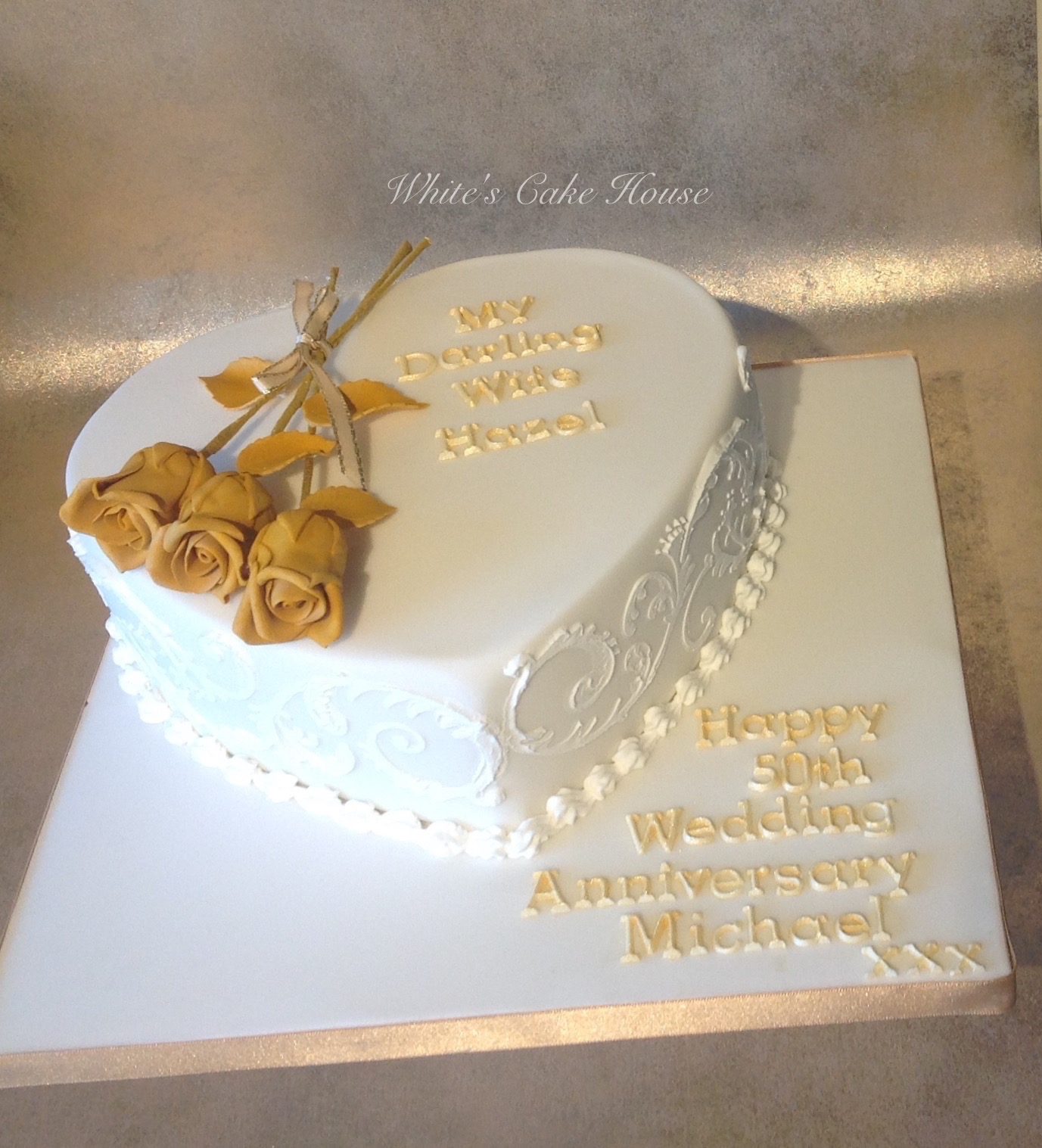 Cake Ideas For Wedding Anniversary: White's Cake House