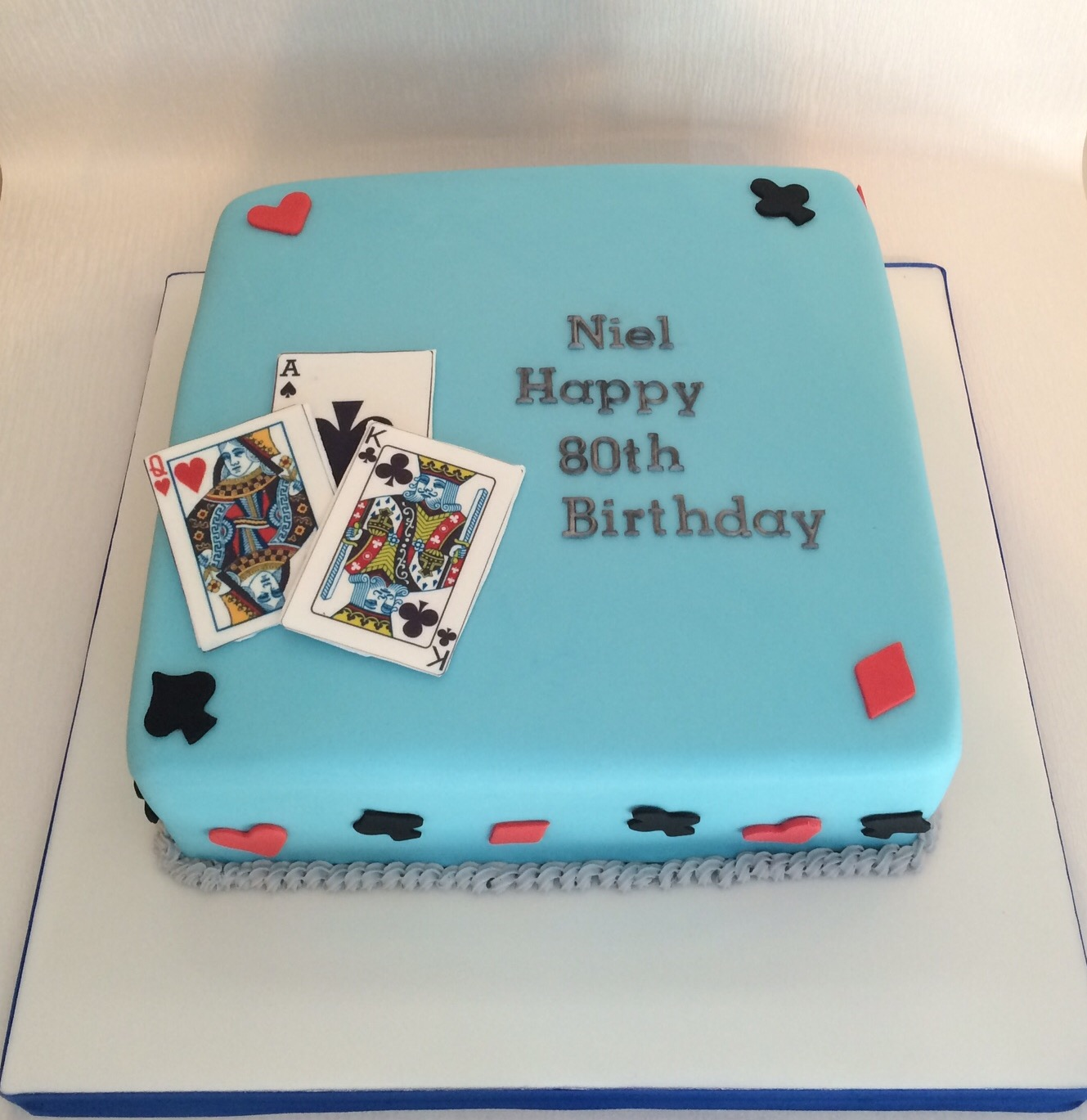 Cake Designs Playing Cards : Birthdays Boys White s Cake House