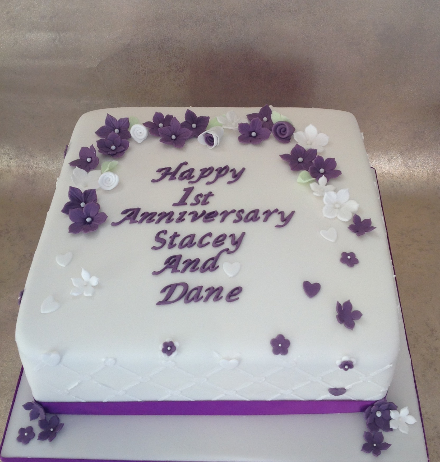 Square Purple Wedding Cakes